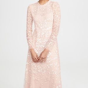 Needle & Thread Rosmund Sequin Gown in blush